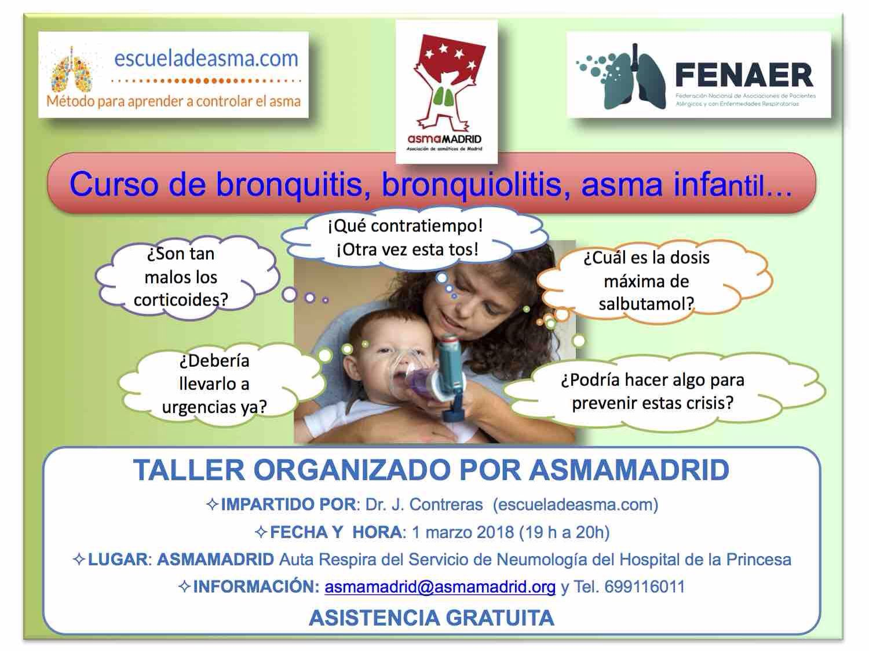 Asmamadrid organiza un curso de bronquiolitis avalado por FENAER.
