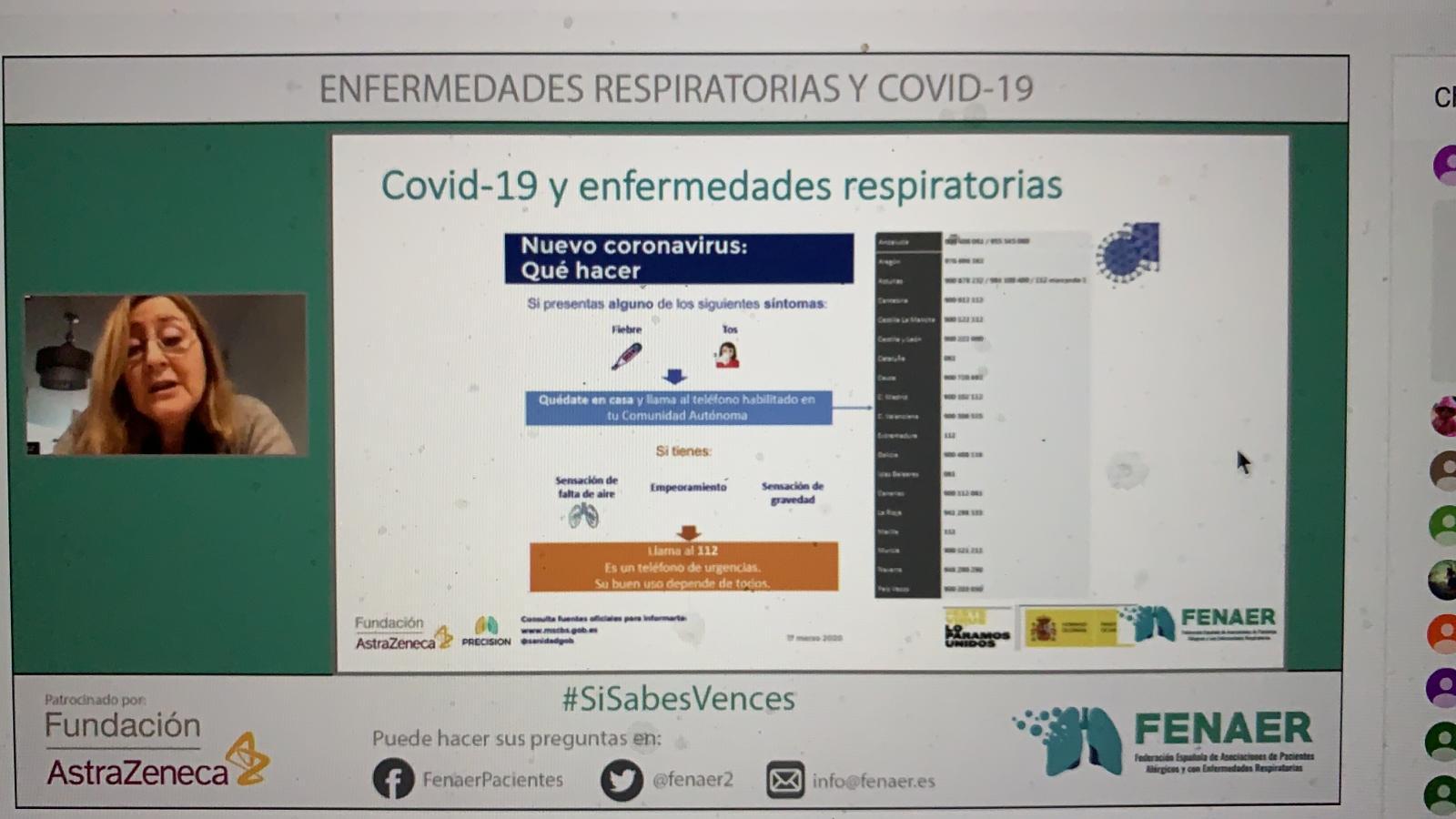 La Dra. Cebollero destaca la importancia de hacer un seguimiento de los pacientes tras superar la  COVID-19