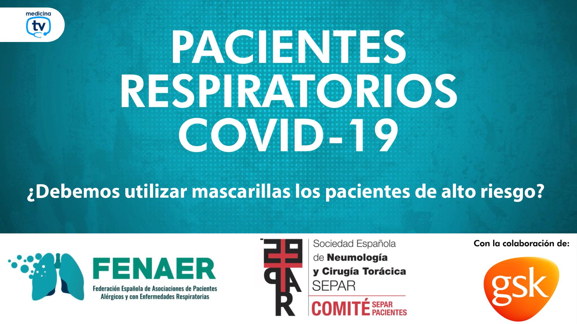Recomiendan el uso de mascarillas FFP2 a los pacientes con enfermedades respiratorias