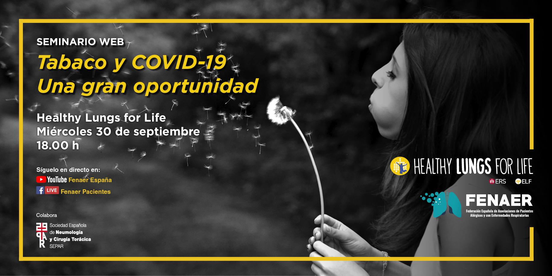 Fenaer promueve un debate sobre tabaco y Covid-19 en el marco de la campaña Healthy Lungs for Life