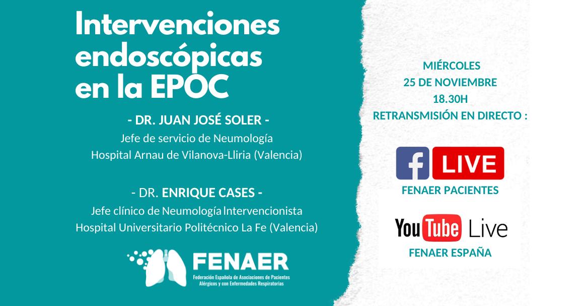 Sesión online sobre intervenciones endoscópicas en la EPOC