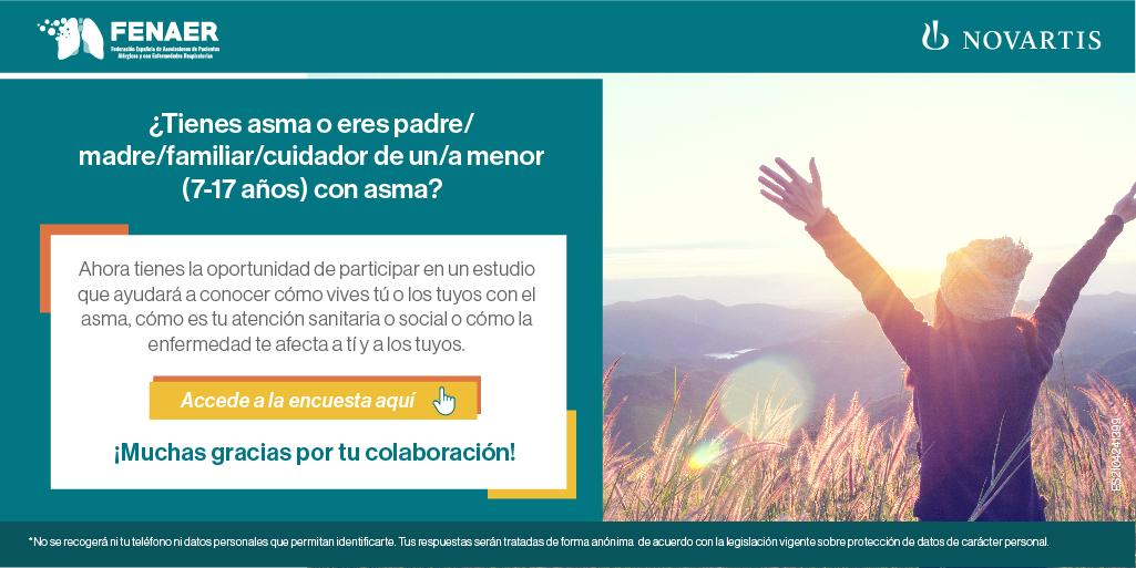 Participa en la elaboración del Atlas del Asma, que promueven Fenaer y Fundación Humans con Novartis