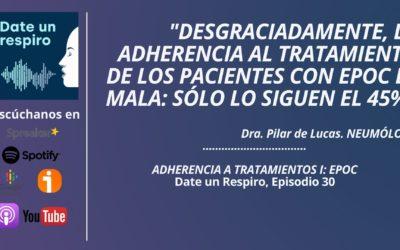 La baja adherencia al tratamiento de los pacientes con epoc, en el podcast de salud de Fenaer
